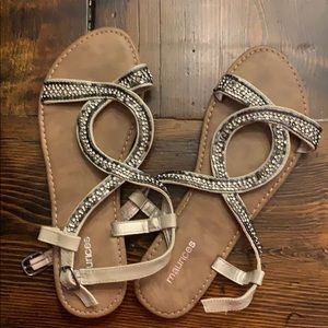Maurice's strapping sandals. Worn once
